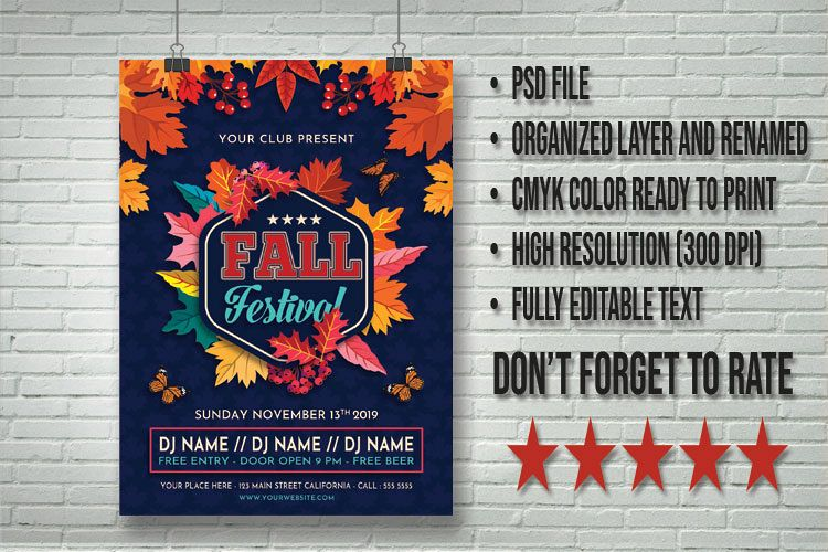 photograph regarding Free Printable Fall Festival Flyer Templates identified as Drop Pageant Flyer Template