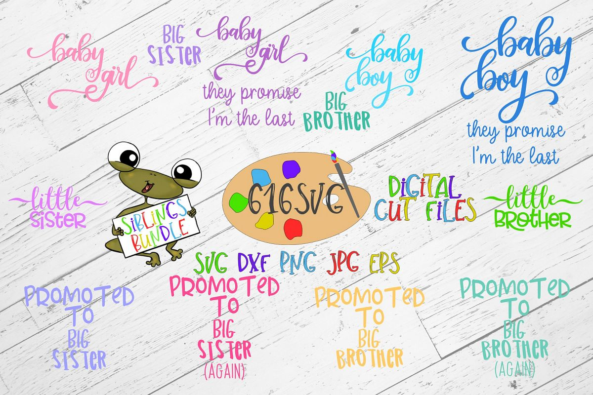 Siblings Bundle SVG example image 1