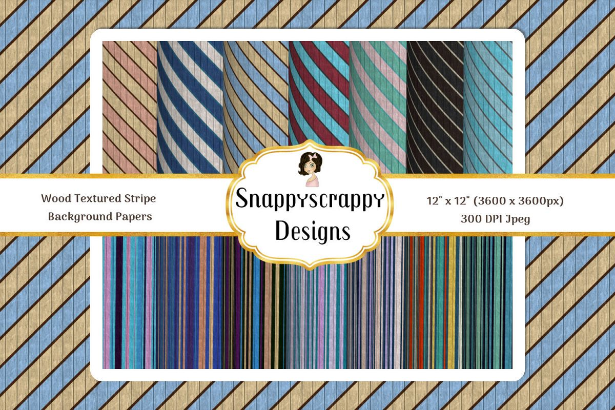Wood Textured Stripes Background papers example image 1