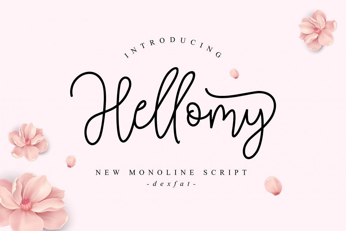 Hellomy | New Monoline Script example image 1