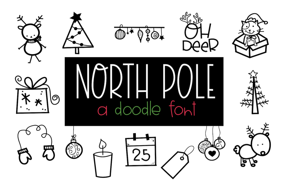 North Pole - A Christmas / Winter Doodles Font example image