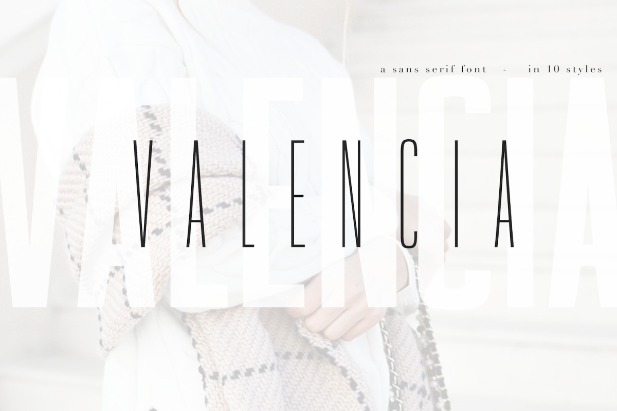 Valencia Font - Sans Serif - 10 Styles example image 1