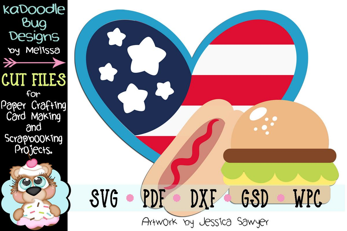 America's Favorite Food Cut File - SVG PDF DXF GSD WPC example image 1
