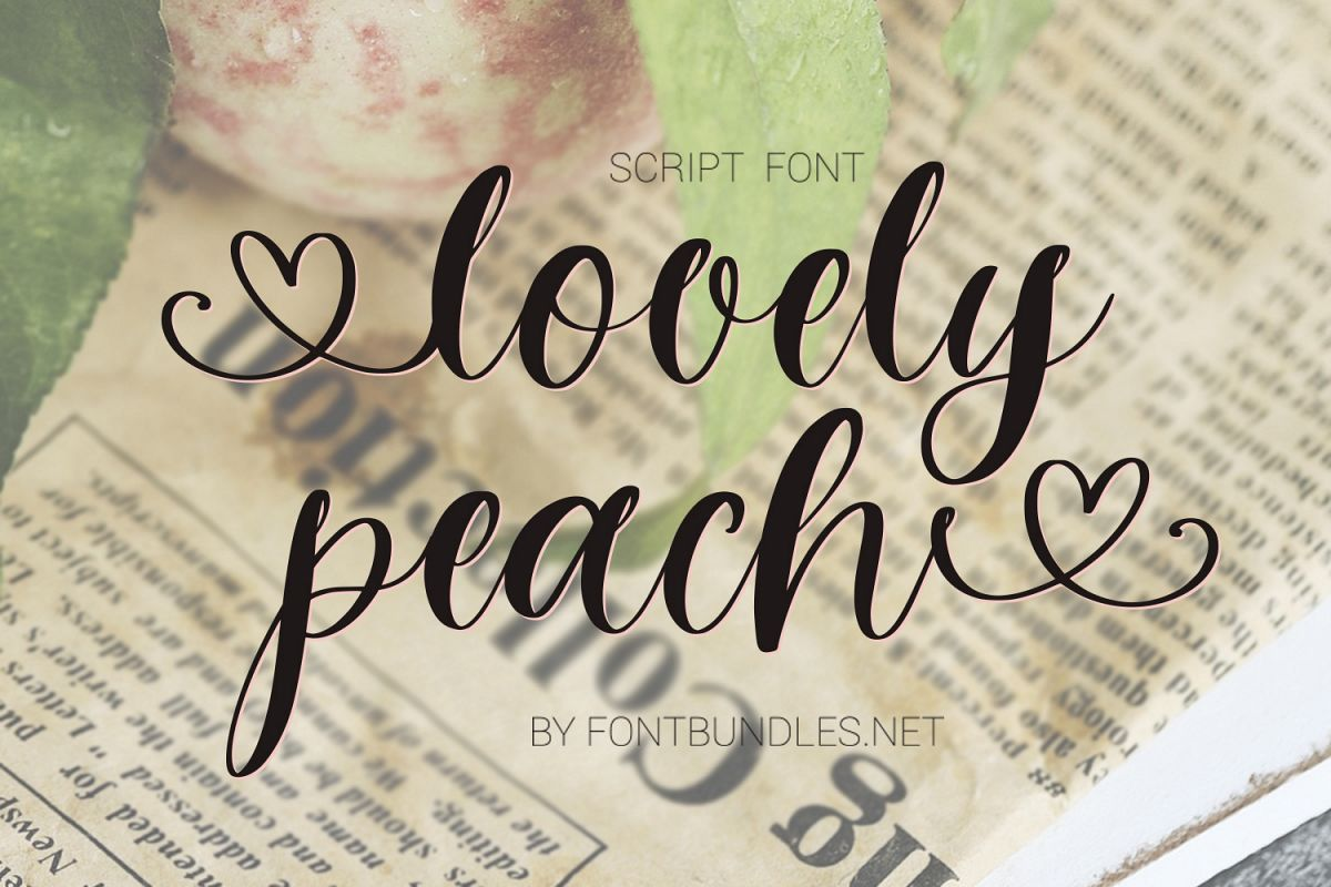 Lovely Peach Script Font example image 1