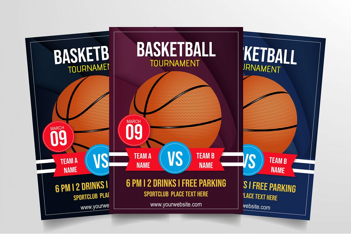 Basketball Tournament Flyer Template example image 1