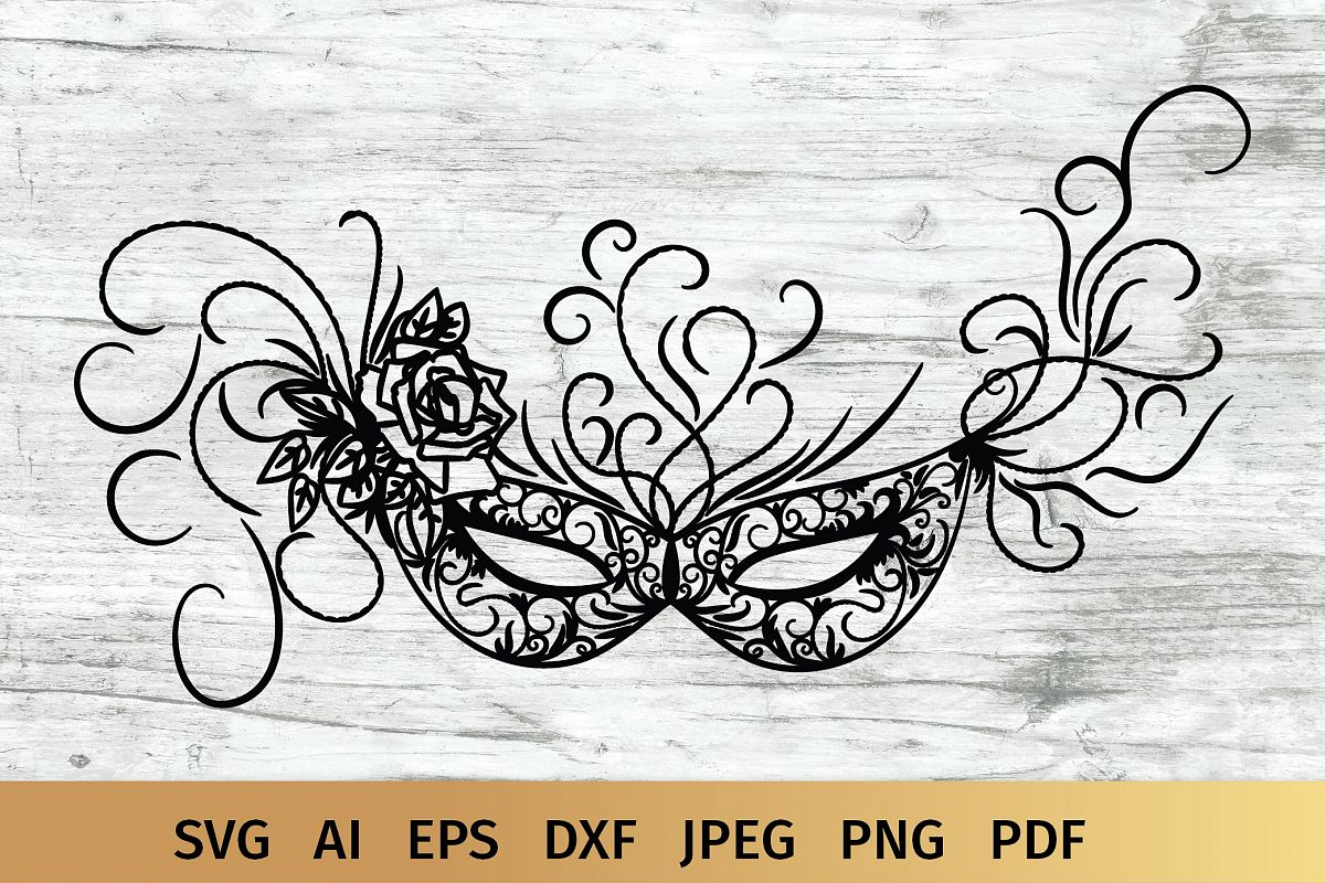 Carnival Mask svg example image 1