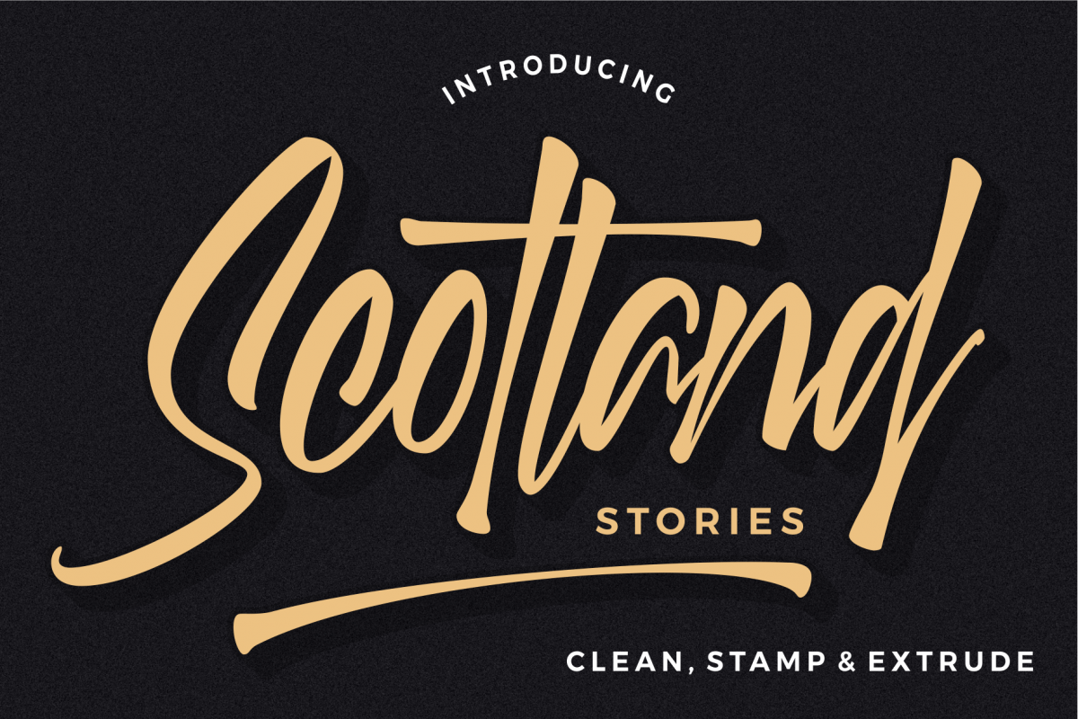 Scotland stories font example image 1
