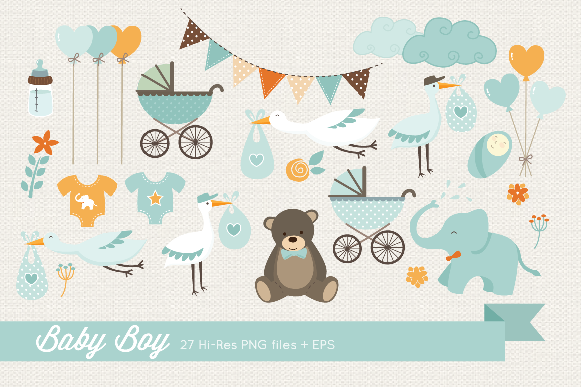 Baby Boy Clipart example image 1