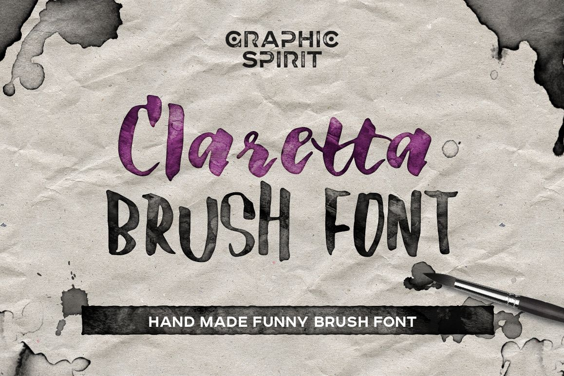 Claretta Brush Ink Font example image 1
