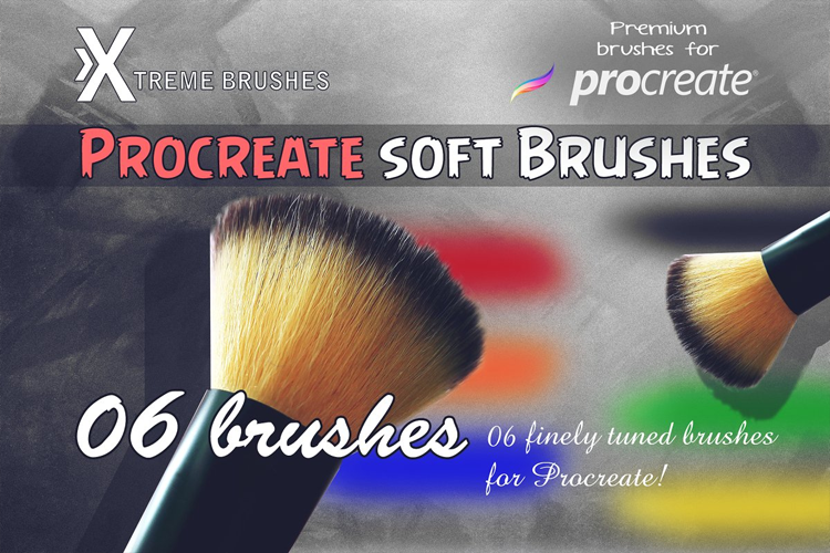 Procreate Soft Brushes example image 1