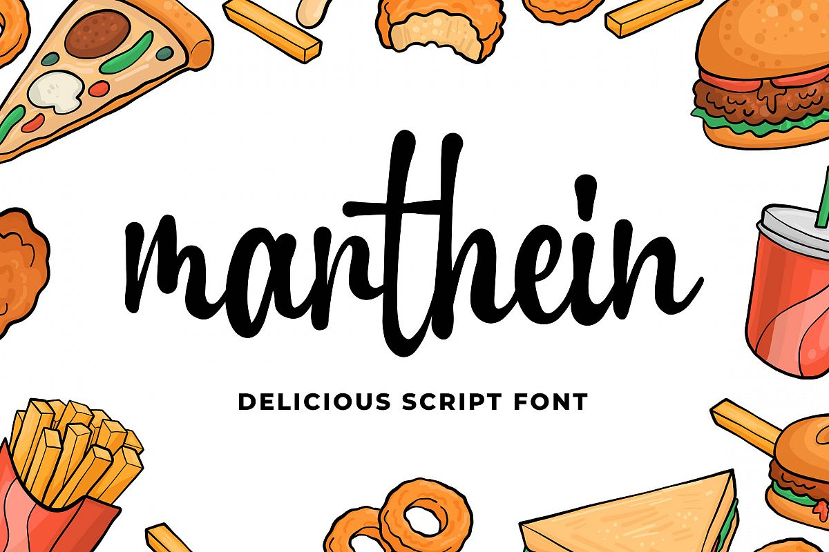 Marthein - Delicious Font example image 1