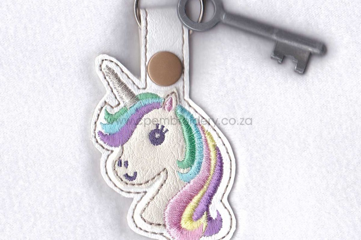 Unicorn Head Keyfob In The Hoop Ith Design
