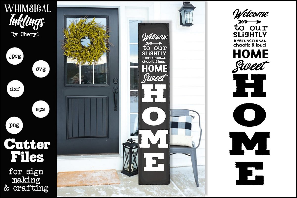 Chaotic Home Vertical SVG example image 1