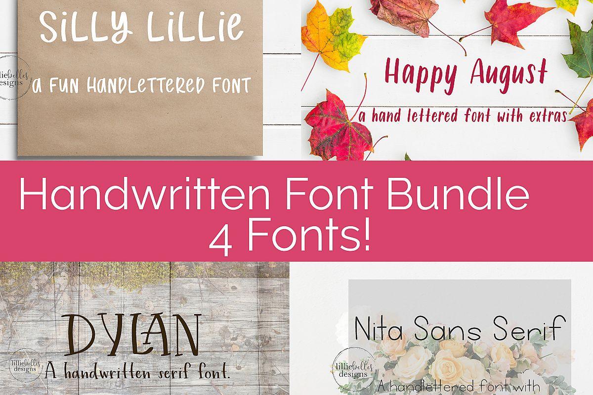Handwritten Print Fonts bundle example image 1