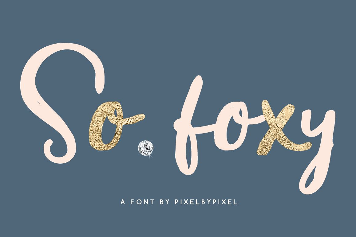 So Foxy Script Font example image 1