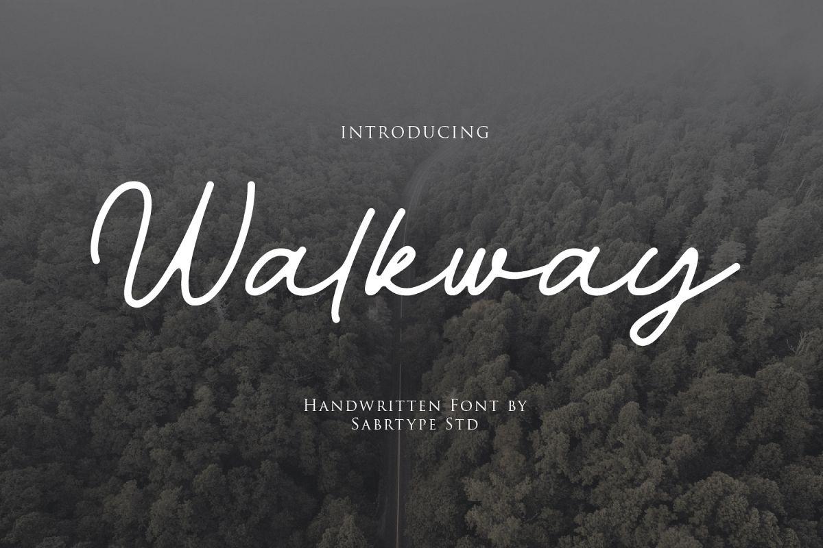 Walkway Font  Bonus Vector example image 1