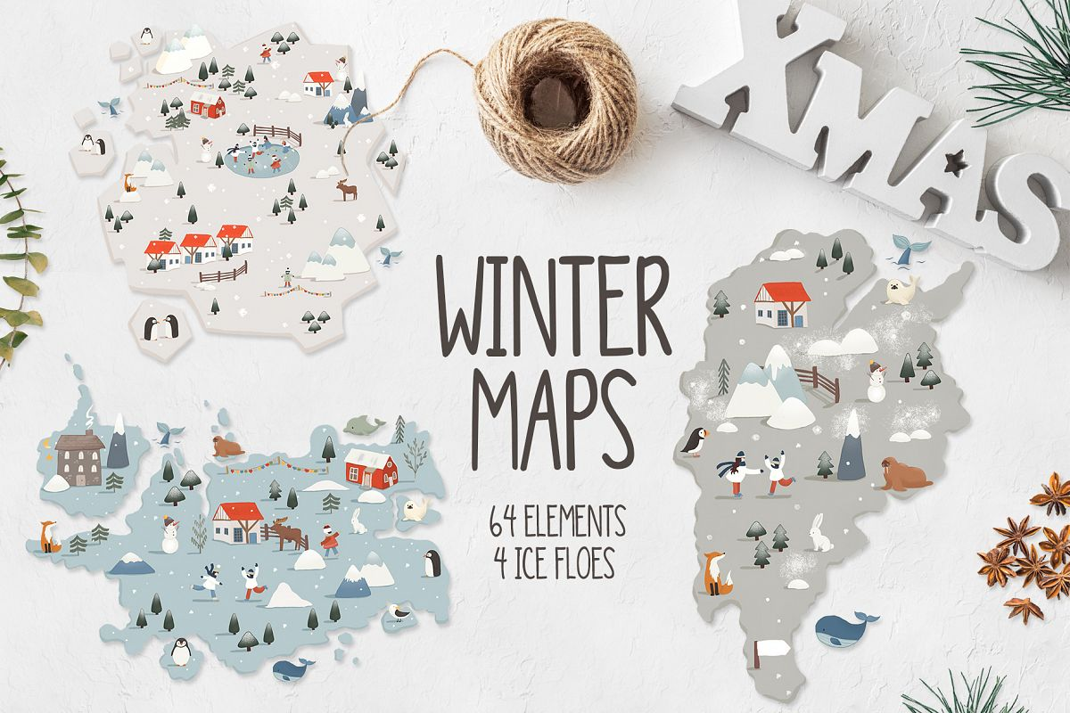 Winter maps example image 1