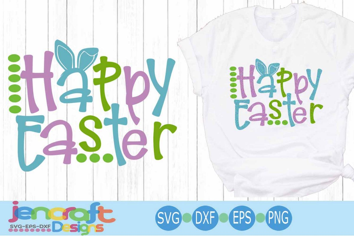Easter SVG, Happy Easter SVG - Bunny ears Spring svg example image 1