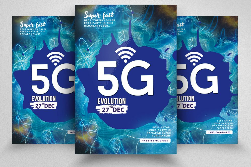 5G Is Coming Flyer Template example image 1