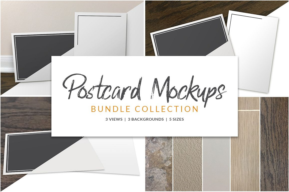 Postcard Mockup Bundle example image 1