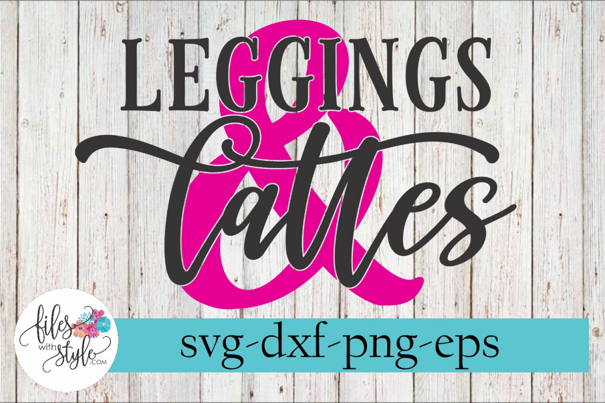 Leggings and Lattes Ampersand Coffee SVG Cutting Files example image 1