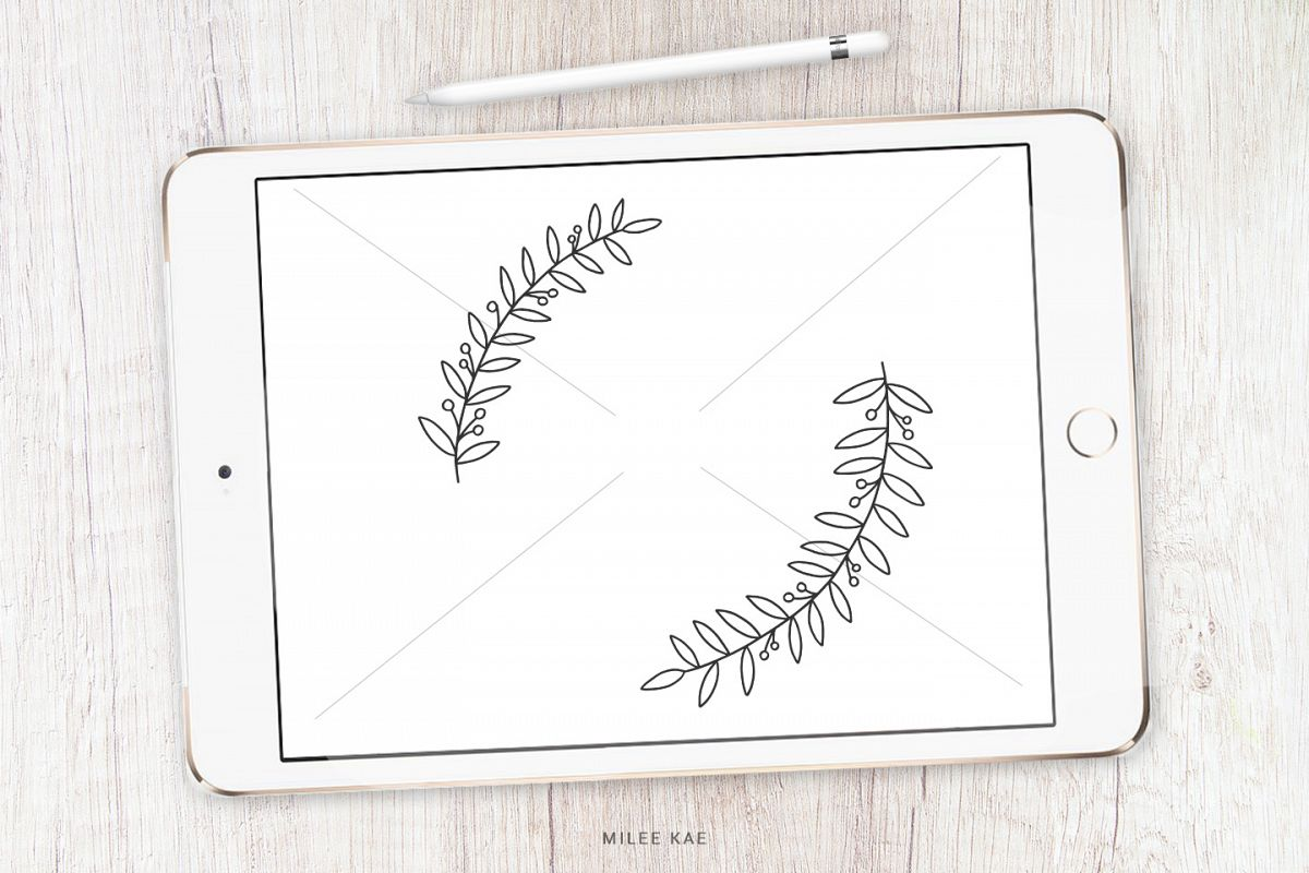 Wildflower Floral Wreath SVG, cutting file and decal example image 1