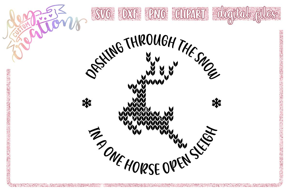 Dashing Through The Snow - SVG DXF PNG - Digital Craft File example image 1