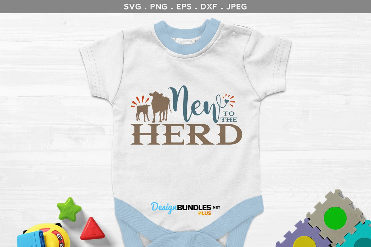 New to the Herd - svg & printable example image 1