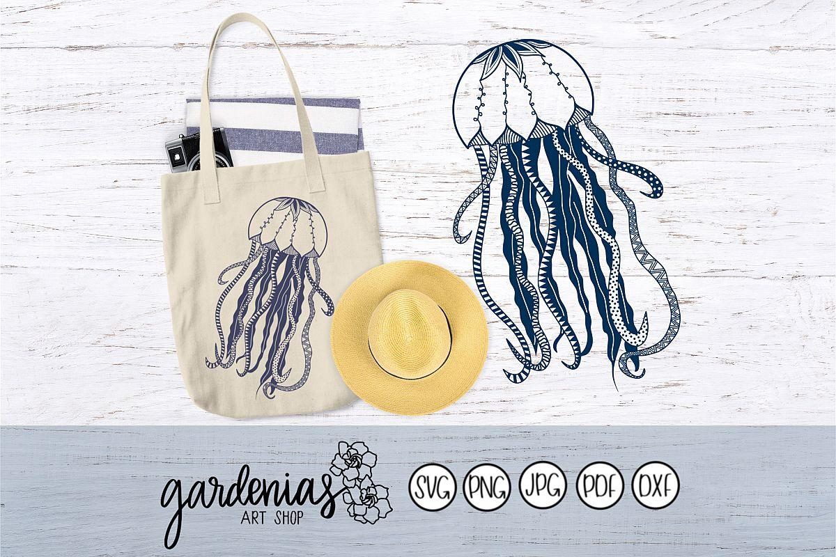 Jellyfish Zen Doodle example image 1