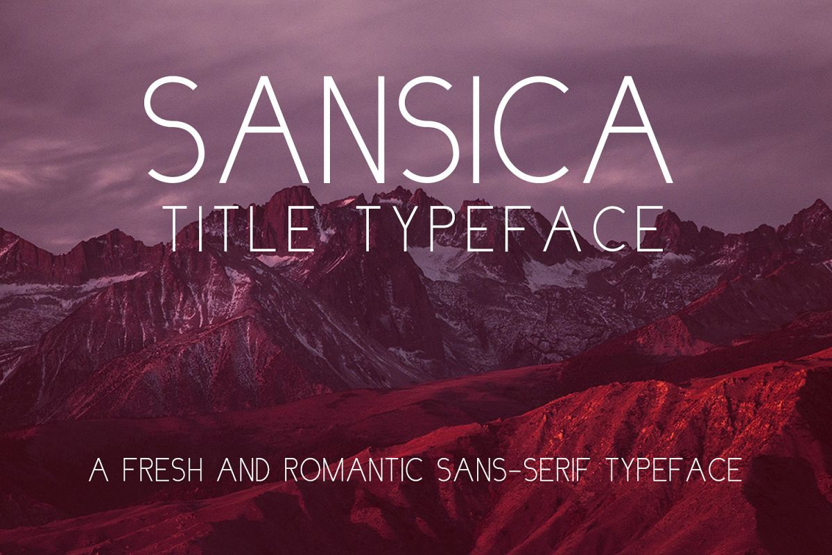 Sansica Title Font example image 1