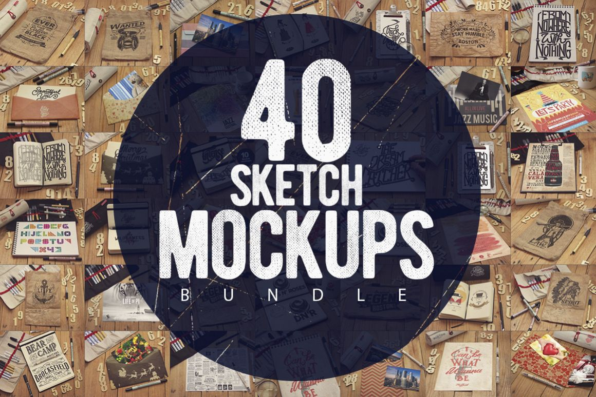 40 Sketch Mockups Bundle -60 example image 1
