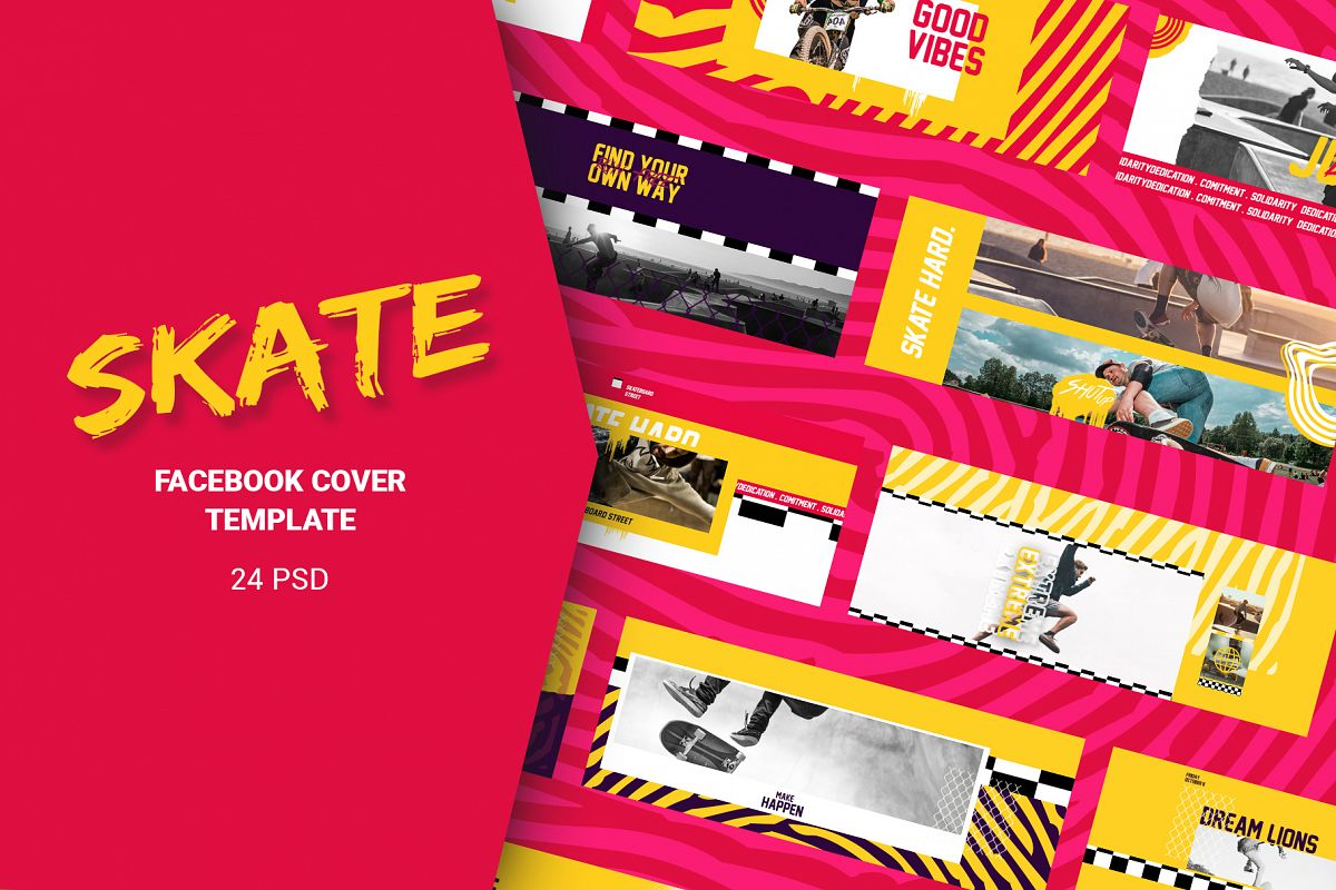 Skate Facebook Cover Templates example image 1