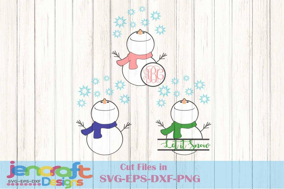 Christmas Snowman Monogram frame Bundle | Design Bundles