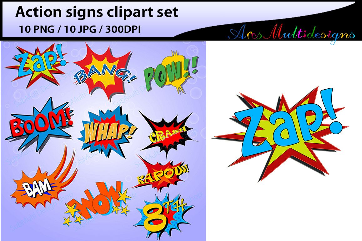 action signs high quality clipart action sign silhouette zap clipart bang clipart pow clipart boom clipart pop art comic book