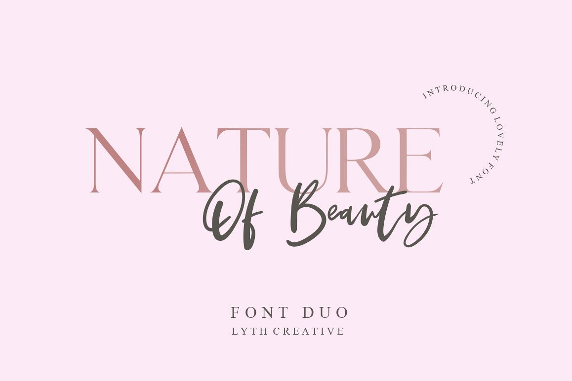 Nature of Beauty Font Duo example image 1