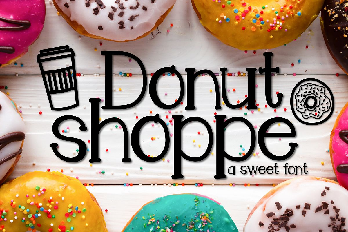 Donut Shoppe a Sweet Font example image 1