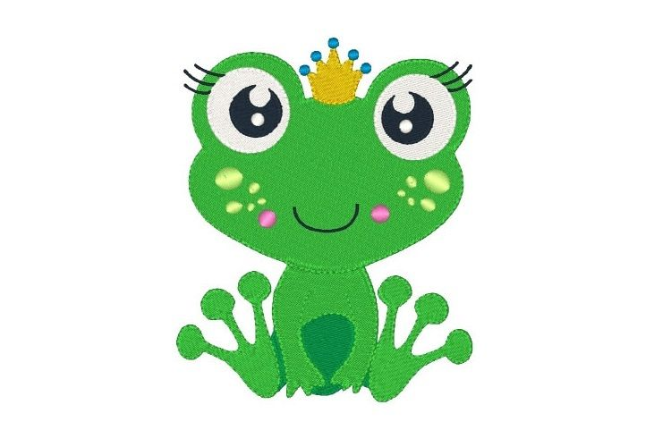 Frog Machine Embroidery Design 7 Sizes Embroidery Toad example image 1