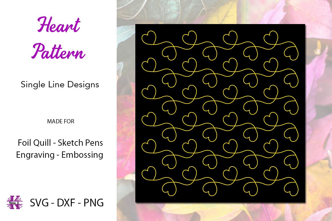 Heart Design Pattern for Foil Quill example image 1