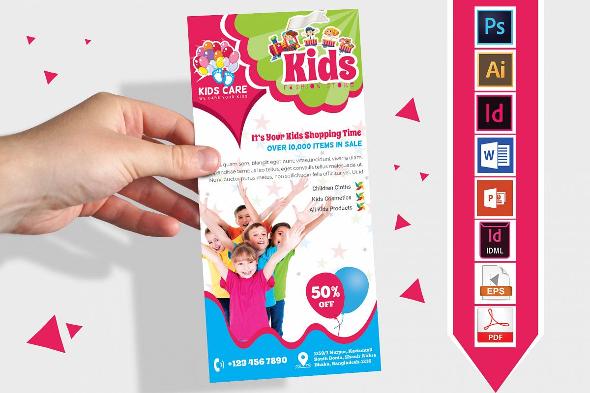 Rack Card | Kids Fashion DL Flyer Vol-02 example image 1