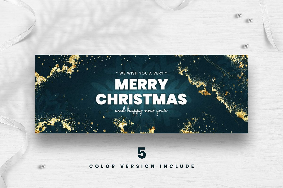 Merry Christmas Facebook Cover Template example image 1