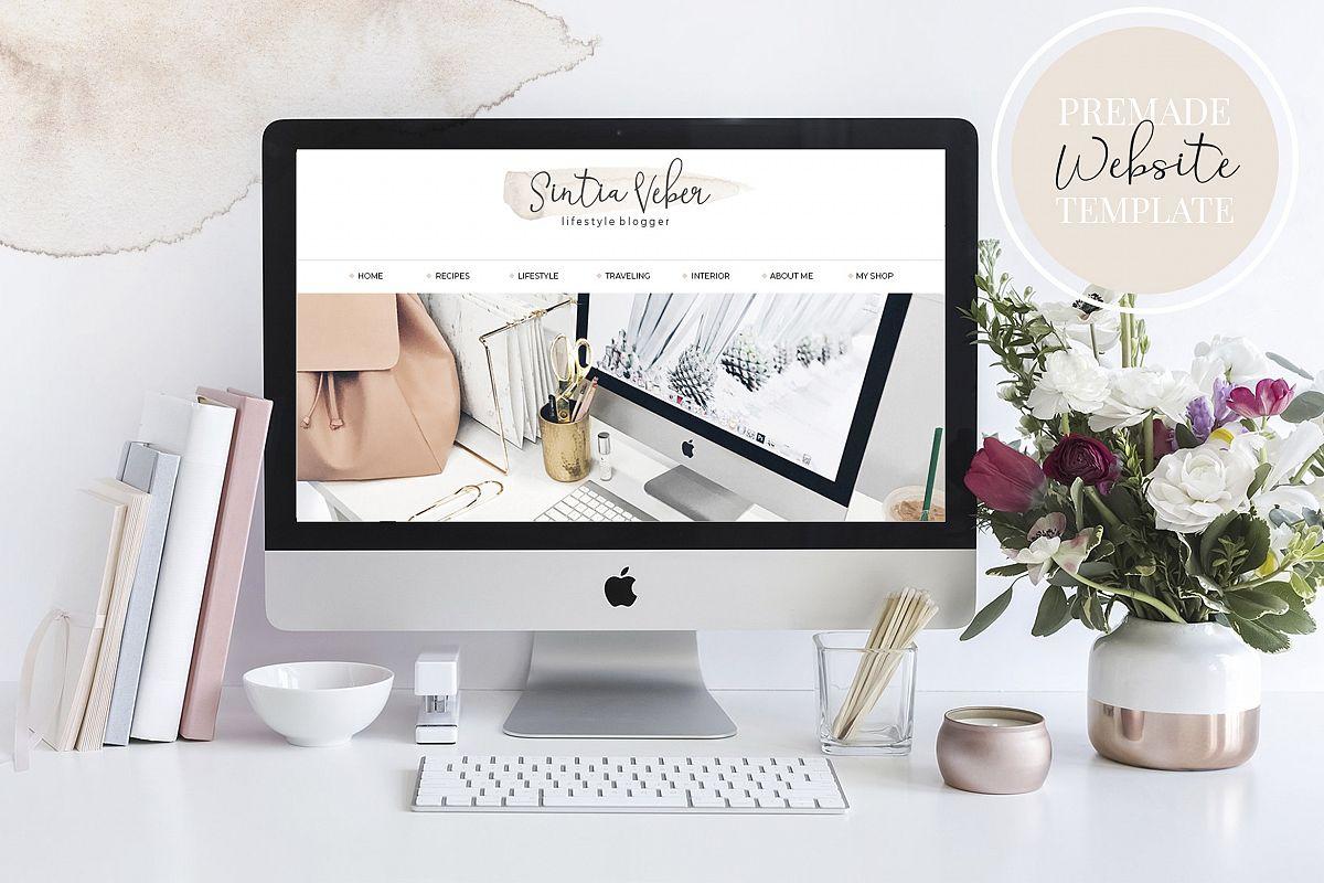 Webdesign Template DIY Blog BEIGE CHIC example image 1