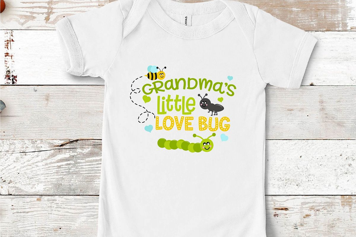 Valentine's Day SVG Little Love Bug, Grandma's Love Bug SVG example image 1