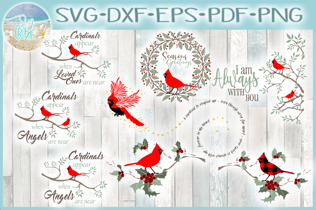 Cardinal Bundle with Quotes SVG example image 1