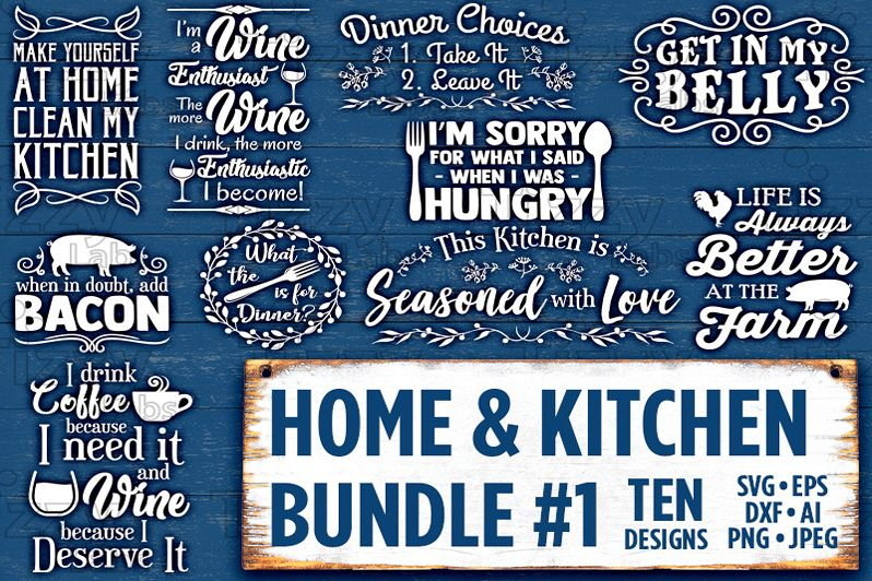 Country Kitchen Svg Bundle Set SVG Files - Svg Files for Cricut Svg Files  for Silhouette Rustic Country Kitchen SVG Bundle Commercial Use - 521