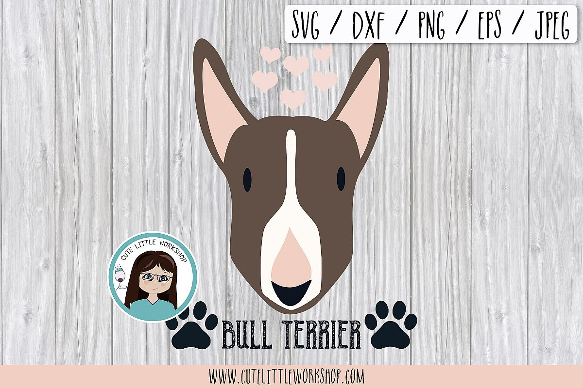 Bull terrier brown svg, dxf, png, eps example image 1