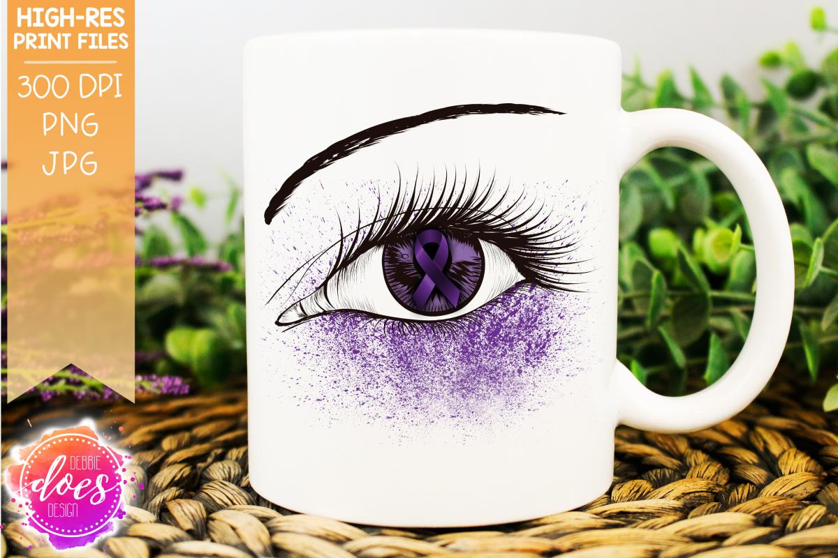 Purple Awareness Ribbon Eye Printable Design example image 1