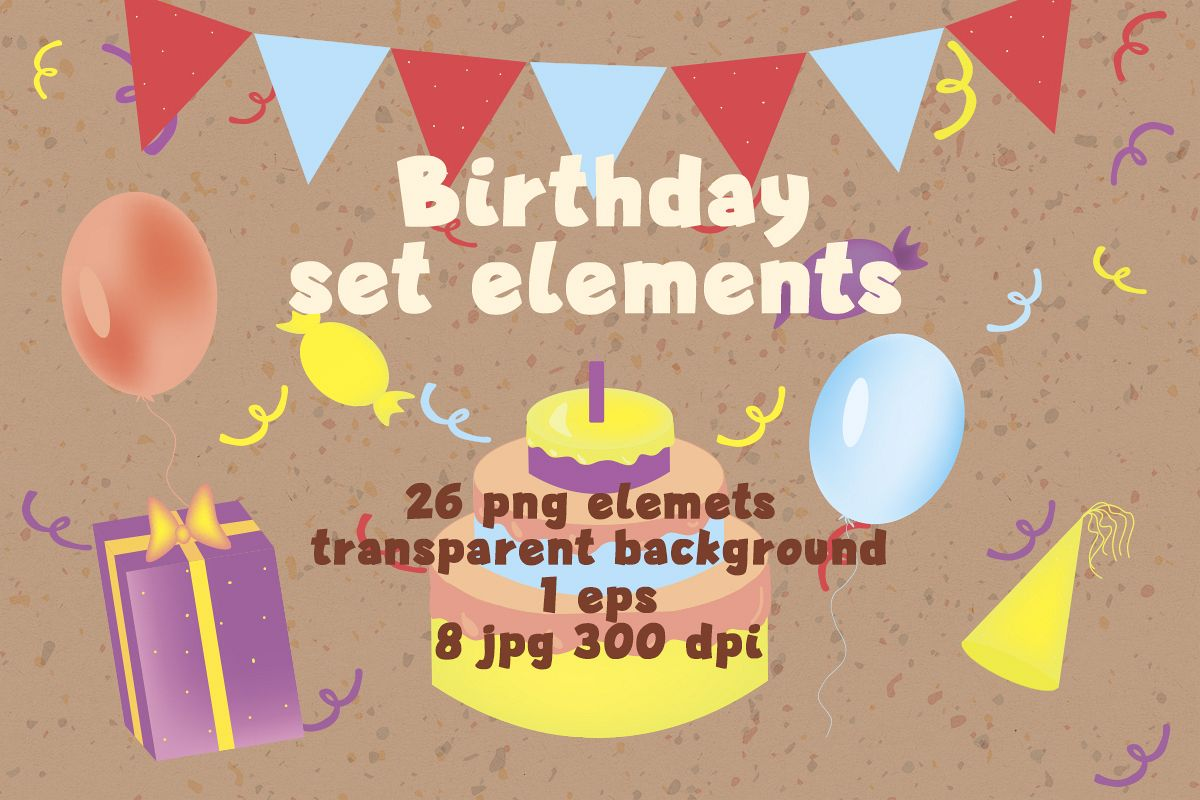 Set birthday elements example image 1