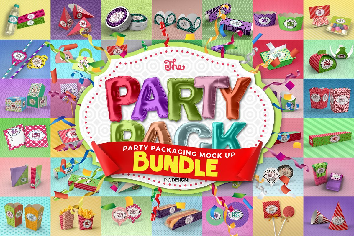 The Party Pack Mockup BUNDLE example image 1