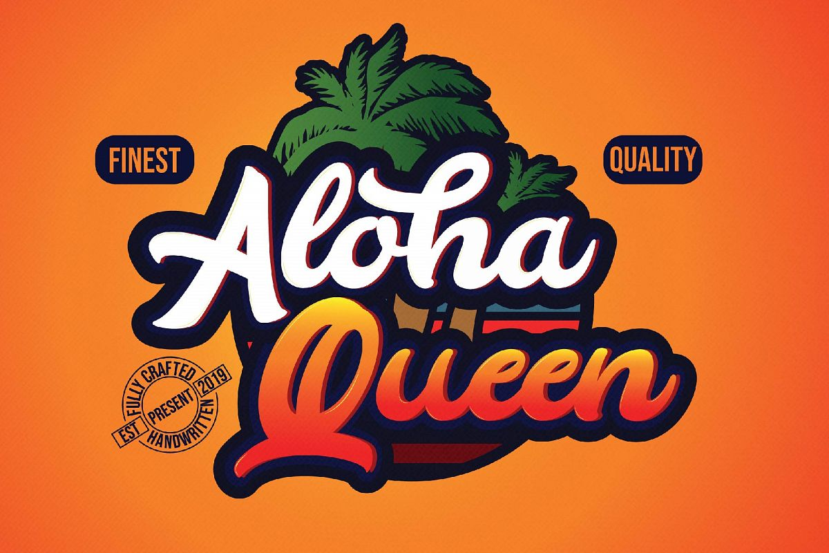 Aloha - Casual Bold Typeface example image 1
