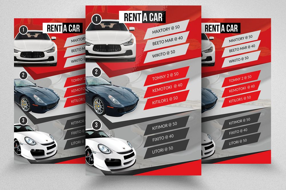 Rent A Car Flyer Template example image 1